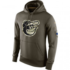 Baltimore Orioles Salute To Service Olive Hoodie