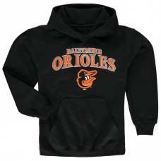 YOUTH - Orioles Stitches Team Fleece Black Pullover Hoodie