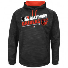 Orioles Team Choice Streak Black Authentic Collection Hoodie
