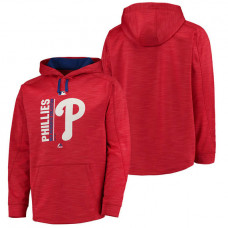 Phillies Authentic Collection Team Icon Streak Fleece Red Pullover Hoodie