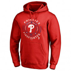 Phillies Firefighter Red Pullover Hoodie