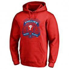 Phillies Police Badge Red Pullover Hoodie