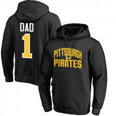 Pittsburgh Pirates Father's Day Black #1 Dad Player Pullover Hoodie