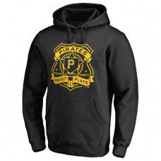 Pirates Police Badge Black Pullover Hoodie