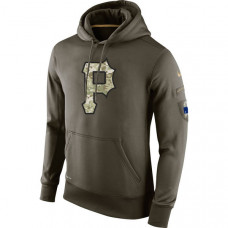 Pittsburgh Pirates Salute To Service Olive Hoodie