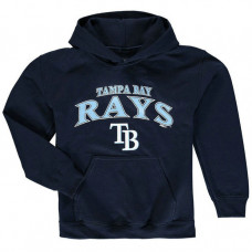YOUTH - Rays Stitches Team Fleece Navy Pullover Hoodie