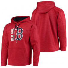 Red Sox Authentic Collection Team Icon Streak Fleece Red Pullover Hoodie