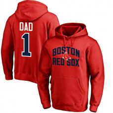 Boston Red Sox Father's Day Red #1 Dad Player Pullover Hoodie