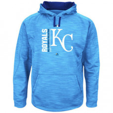 Royals Authentic Collection Team Icon Streak Fleece Light Blue Pullover Hoodie