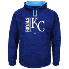 Royals Authentic Collection Team Icon Streak Fleece Royal Pullover Hoodie