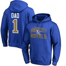 Kansas City Royals Father's Day Royal #1 Dad Player Pullover Hoodie