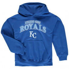 YOUTH - Royals Stitches Team Fleece Royal Pullover Hoodie