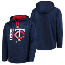 Twins Authentic Collection Team Icon Streak Fleece Navy Pullover Hoodie