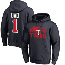 Minnesota Twins Father's Day Navy #1 Dad Player Pullover Hoodie