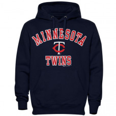 Twins Stitches Fleece Navy Pullover Hoodie
