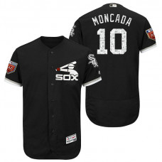 Chicago White Sox #10 Yoan Moncada Black 2018 Spring Training Flex Base Jersey