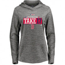 WOMEN - Boston Red Sox 2017 Postseason Authentic Collection Streak Fleece Pullover Gray Hoodie