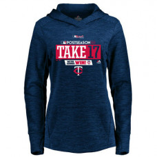 WOMEN - Minnesota Twins 2017 Postseason Authentic Collection Streak Fleece Pullover Navy Hoodie