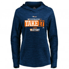 WOMEN - Houston Astros 2017 Postseason Participant Streak Fleece Pullover Navy Hoodie