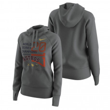 WOMEN - Houston Astros 2017 World Series Champions Pullover Heather Gray Hoodie