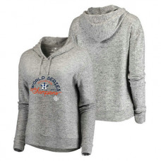 WOMEN - Houston Astros 2017 World Series Champions On Deck Cozy Pullover Heather Gray Hoodie
