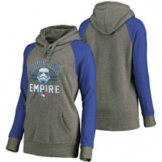 WOMEN - Toronto Blue Jays Heather Gray Star Wars Empire hoodie