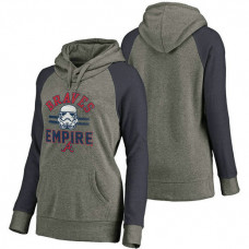 WOMEN - Atlanta Braves Heather Gray Star Wars Empire hoodie