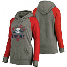 WOMEN - St. Louis Cardinals Heather Gray Star Wars Empire hoodie