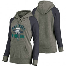 WOMEN - Seattle Mariners Heather Gray Star Wars Empire hoodie
