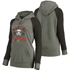 WOMEN - Miami Marlins Heather Gray Star Wars Empire hoodie