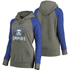 WOMEN - Kansas City Royals Heather Gray Star Wars Empire hoodie