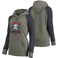 WOMEN - Minnesota Twins Heather Gray Star Wars Empire hoodie