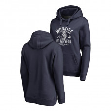 WOMEN - Atlanta Braves Fanatics Branded Navy Star Wars Wookiee Of The Year Hoodie