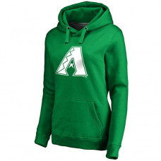 WOMEN - Arizona Diamondbacks Kelly Green St. Patrick's Day White Logo Pullover Hoodie