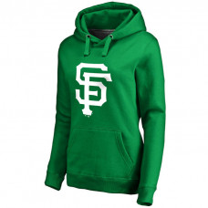 WOMEN - San Francisco Giants Kelly Green St. Patrick's Day White Logo Pullover Hoodie
