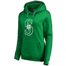 WOMEN - Seattle Mariners Kelly Green St. Patrick's Day White Logo Pullover Hoodie