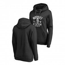 WOMEN - Miami Marlins Fanatics Branded Black Star Wars Wookiee Of The Year Hoodie