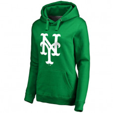 WOMEN - New York Mets Kelly Green St. Patrick's Day White Logo Pullover Hoodie