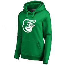 WOMEN - Baltimore Orioles Kelly Green St. Patrick's Day White Logo Pullover Hoodie