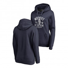 WOMEN - Tampa Bay Rays Fanatics Branded Navy Star Wars Wookiee Of The Year Hoodie