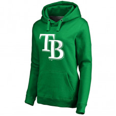 WOMEN - Tampa Bay Rays Kelly Green St. Patrick's Day White Logo Pullover Hoodie