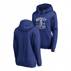 WOMEN - Kansas City Royals Fanatics Branded Royal Star Wars Wookiee Of The Year Hoodie