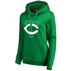 WOMEN - Minnesota Twins Kelly Green St. Patrick's Day White Logo Pullover Hoodie