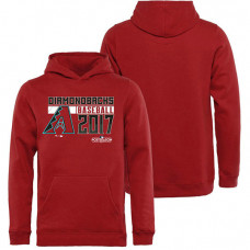 YOUTH - Arizona Diamondbacks 2017 Postseason Double Play Pullover Red Hoodie