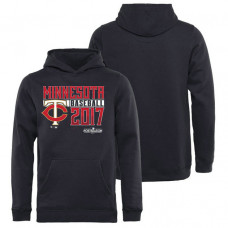 YOUTH - Minnesota Twins 2017 Postseason Double Play Pullover Navy Hoodie