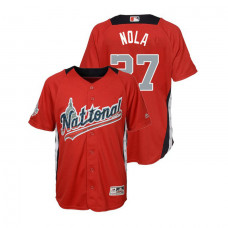 YOUTH - National League #27 Aaron Nola Home 2018 MLB All-Star Red Run Derby Jersey