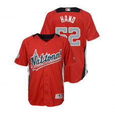 YOUTH - National League #52 Brad Hand Home 2018 MLB All-Star Red Run Derby Jersey
