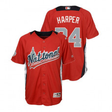 YOUTH - National League #34 Bryce Harper Home 2018 MLB All-Star Red Run Derby Jersey