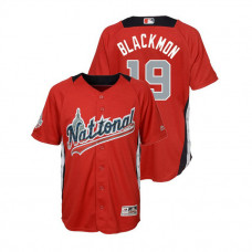 YOUTH - National League #19 Charlie Blackmon Home 2018 MLB All-Star Red Run Derby Jersey