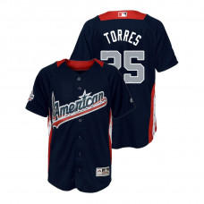 YOUTH - American League #25 Gleyber Torres 2018 MLB All-Star Navy Home Run Derby Jersey